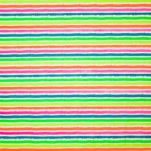 witte tricot met strepen in neon