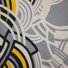 Italiaanse tricot met abstract motief