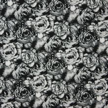 Elastische tricot bedrukt