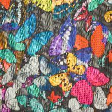 Tricot met breisteekmotief en vlinders