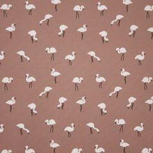 Crêpe tricot met flamingo's op oud roze achtergrond