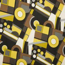 viscosetricot abstracte print geel