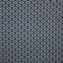tricot blauw geometrische motiefjes