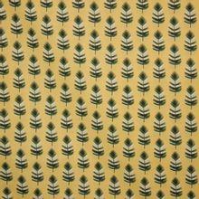 Gele katoen met blad motief