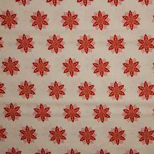 Katoen kerstster rood