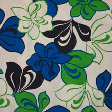 soepele tricot met bloemenprint