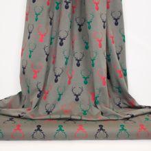Grijze tricot met rendieren en glitter