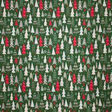 Groene tricot met kerstbomen