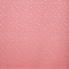 Roze ribfluweel met gouden stipjes