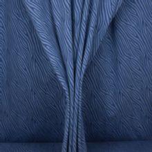 Blauwe tricot met abstracte lijnen