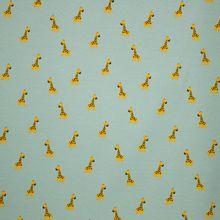 Muntkleurige tricot met giraffen