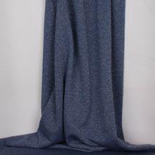 Blauwe sweaterstof met zilveren glitter
