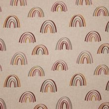 Bruine canvas met regenbogen