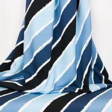 French terry met gekleurde strepen blauw