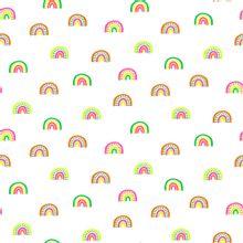 Witte tricot met neon regenbogen van Poppy