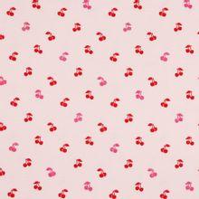 Roze tricot met kersjes en glitter van Poppy
