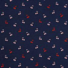 Blauwe tricot met kersjes en glitter van Poppy