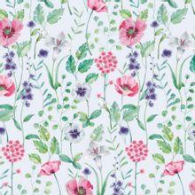 Witte french terry met bloemen van Poppy
