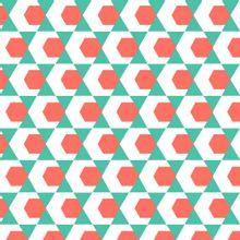 Tricot met blauw/rood motief van Poppy
