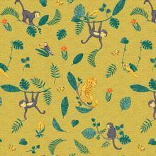 Gele tricot met wilde dieren van Poppy