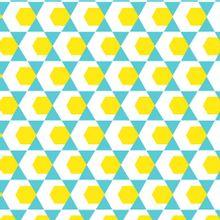 Tricot met blauw/geel motief van Poppy