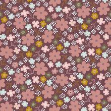 Roze tricot met bloemen van Poppy