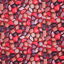 Rode tricot met pralines