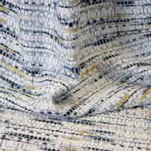 Chanelstof Blauw, Wit en Goud