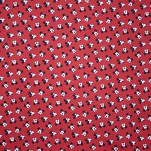 Rode Katoen met Mickey Mouse Figuurtjes