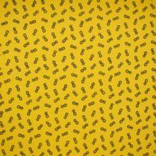 Gele Katoen Tricot met Ananassen