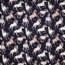 Donker Blauwe Tricot met Paarden