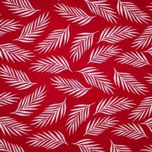 Rode Viscose met Bladeren van B*Trendy