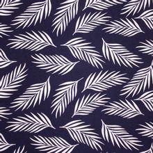 Blauwe Viscose met Bladeren van B*Trendy