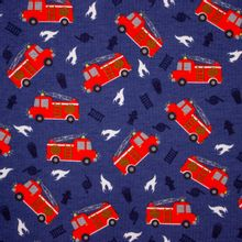 Blauwe Tricot met Brandweerwagens