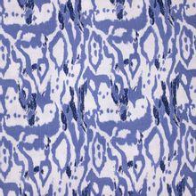 Witte Viscose Linnen met Blauwe Print