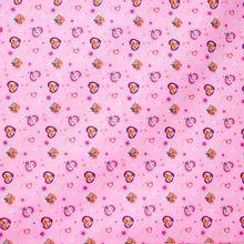 Roze Katoen met Paw Patrol print