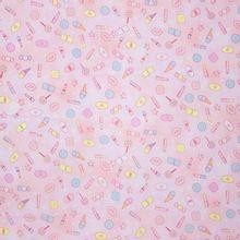 Roze Katoen met Snoepgoed