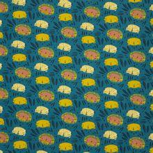 Donkergroen/blauwe Tricot met Roofdieren