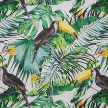 Canvas met Exotische Planten en Toekan