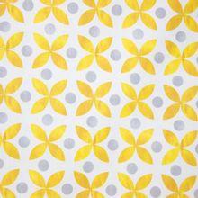 Canvas met Gouden Bladpatroon