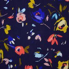 Donker Blauwe Viscose met Bloemen van Atelier Jupe