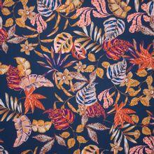 Zwarte Polyester met Bladeren