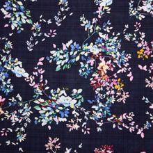 Viscose Katoen met Bloemen van Stitched By You