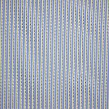 Blauw Gestreepte Viscose met Patroon