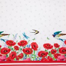 Witte Tricot met Vogels en Rozen