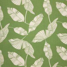 Groene Viscose Linnen met Witte Bladeren
