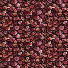 Zwarte Tricot met Rode Bloemen van Poppy