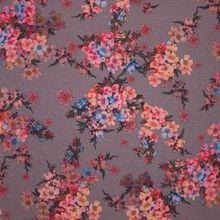 Grijze Tricot met Roze Bloemen en Glinsters