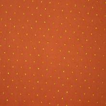 Fijne Oranje Viscose met Glinsterende Goudkleurige Spikkels