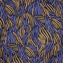 Blauwe Viscose met Golvende Strepen